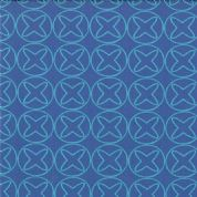 Moda Sphere by Zen Chic - 3173 - Turquoise Noughts and Crosses on Blue 1544 17 - Cotton Fabric